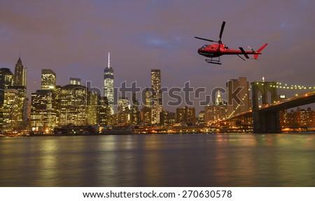 Tour over New York City - stock photo