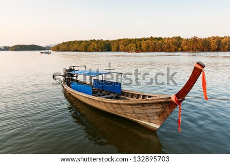 Touring boat in Asia