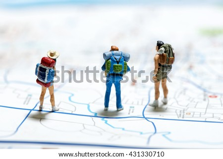 Tourism and travel concept. Macro photo - stock photo