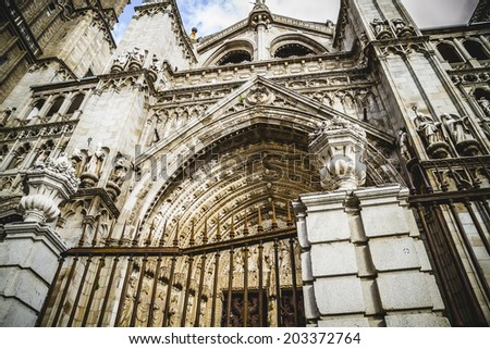 Tourism.Cathedral of Toledo, imperial city. Spain - stock photo
