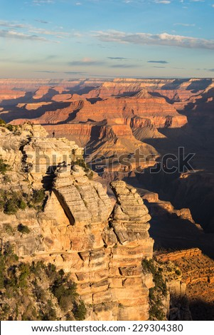 Tourist at Grand Canyon National Park, Arizona, USA