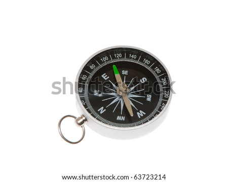 Tourist compass on a white background