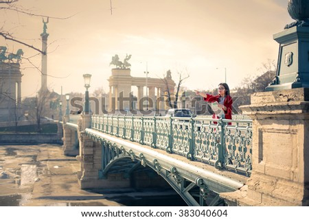 Tourist in Budapest