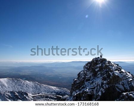 Tourist in the Slovak Tatras - stock photo