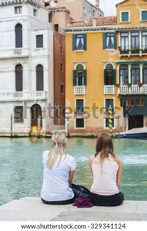 Tourist in Venice, Italy - stock photo