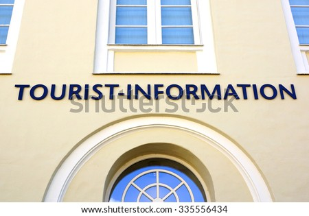 Tourist Information Building in the City - stock photo