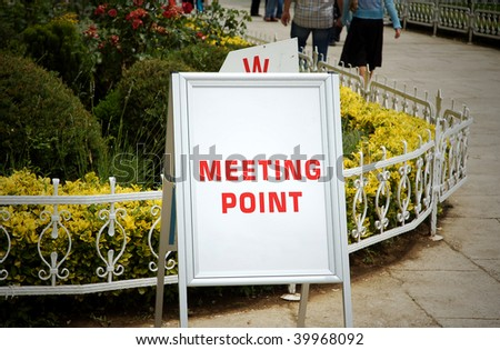 Tourist information sign - Meeting point