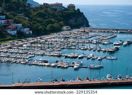 Tourist port of Agropoli city, in Cilento coast, Italy