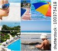 tourist resorts and sea landscapes in summer time - stock photo