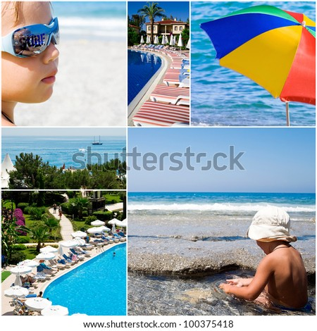 tourist resorts and sea landscapes in summer time