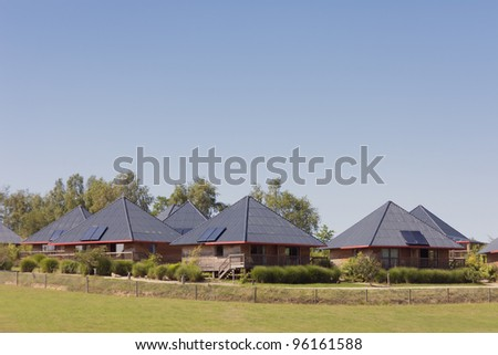 Tourist Resorts - Modern cottages in France, Europe - stock photo
