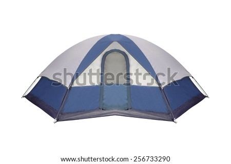 tourist tent - stock photo