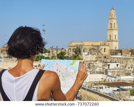 Tourist Map His Hans Front Lecce Stock Photo 737072260 Shutterstock