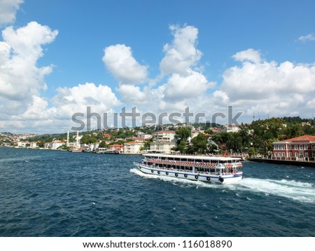 touristic boat, Istanbul - stock photo
