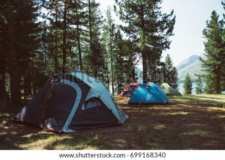 camping in the woods. Beautiful Woods Touristic Tent In A Forest Tent Camping The Woods Tourists Camped  Throughout Camping In The Woods