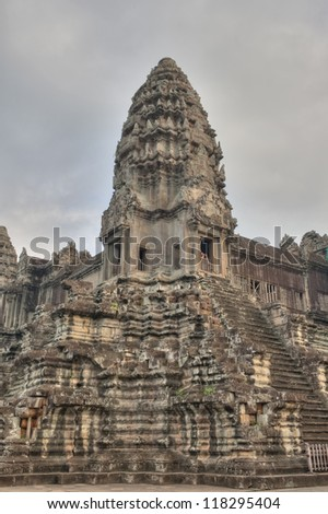 Tourists visit Angkor Wat, Ancient Ruins built in 11th Century, a UNESCO World Heritage Site.