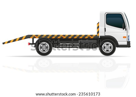 tow truck for transportation faults and emergency cars illustration isolated on white background