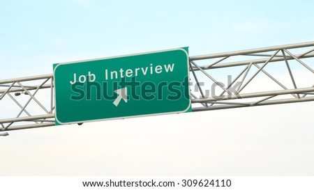 Towards the job interview - freeway sign