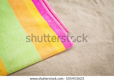 towel beach