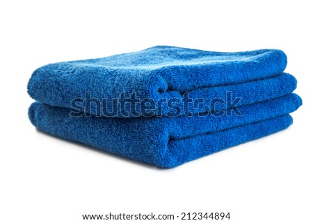 Towel isolated on white background - stock photo