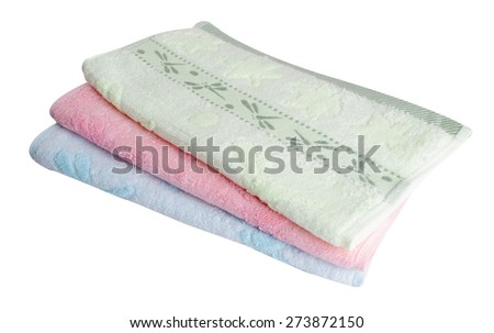towel. Kitchen towel on background. Kitchen towel on a background