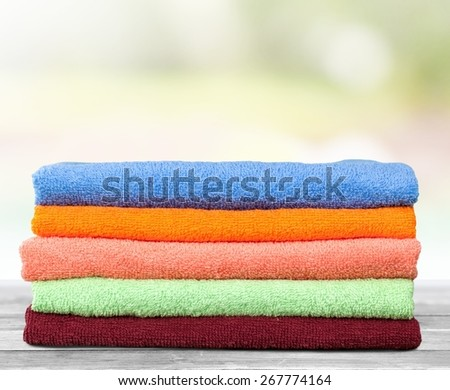 Towel, Laundry, Textile. - stock photo