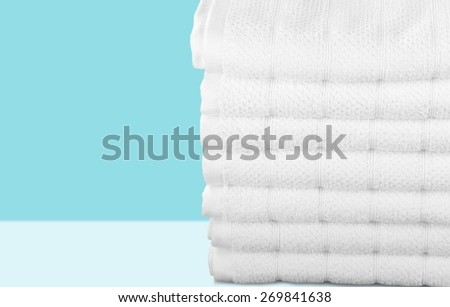 Towel, Laundry, White.