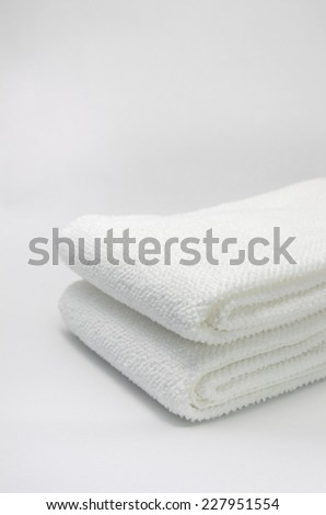Towel of white background - stock photo