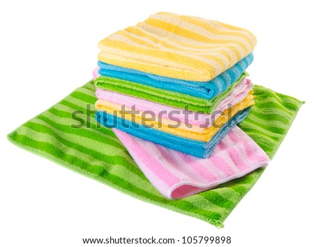 towel on a white background - stock photo