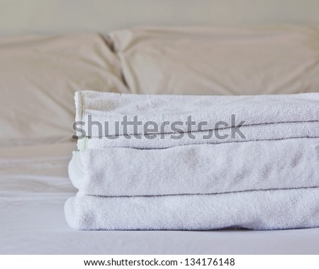 Towel on the bed