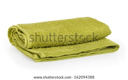 towel rolled up on a white background