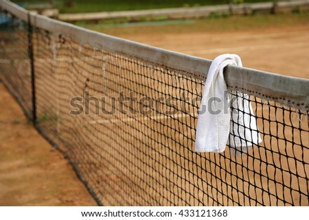 Towel tennis grid tennis courts