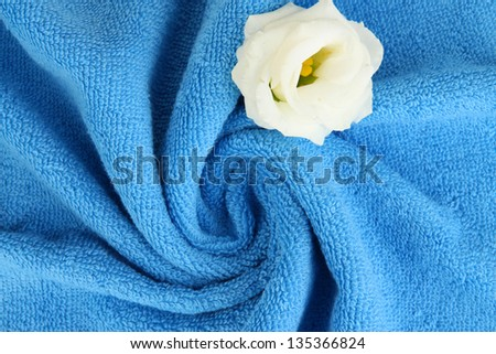 Towel texture close up