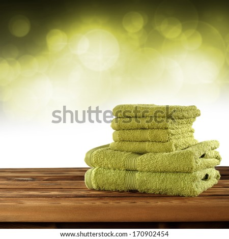 towels in hotel  - stock photo
