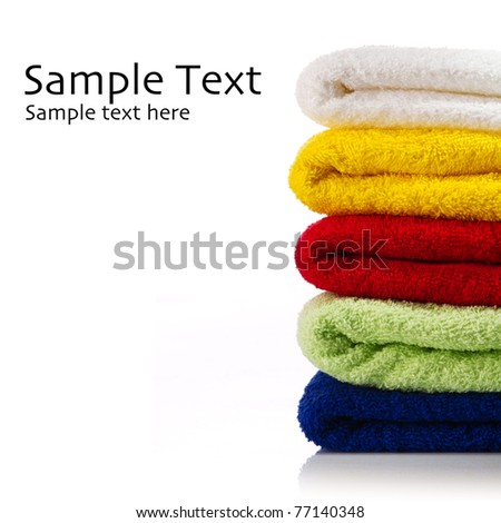 Towels on a white - stock photo