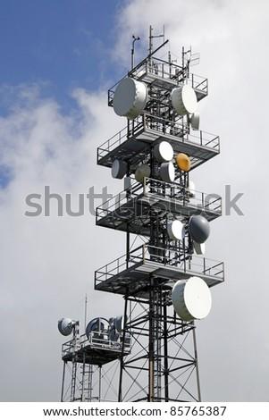 Tower antennas - stock photo