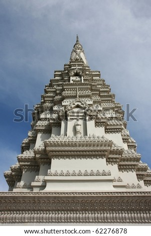 Tower at a buddhist temple - stock photo