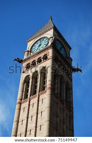 Tower at Toronto City Hall - stock photo