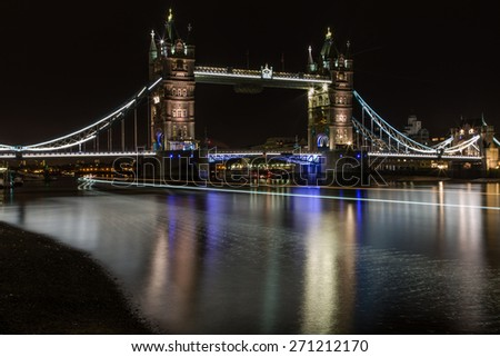 Tower Bridge and Light trails