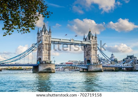 Tower bridge and Thames river London