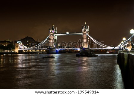 Tower Bridge and Thames River, London - England