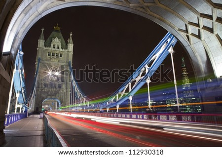 Tower Bridge at Night, London - stock photo