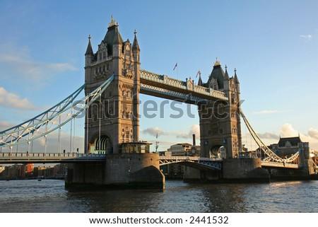 Tower Bridge at sunset - stock photo