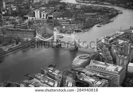 Tower bridge. City of London panorama in sunset.  - stock photo
