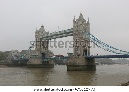Tower Bridge in London in the morning