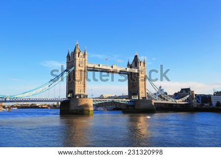 Tower Bridge in London, United Kingdom, uk - stock photo