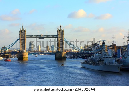 Tower, bridge, London - stock photo