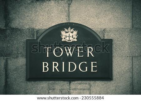 Tower Bridge London as the city landmark.. - stock photo