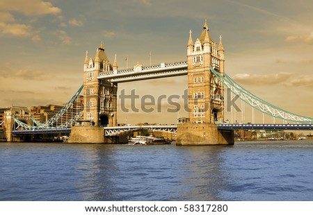 Tower bridge London - historical monument