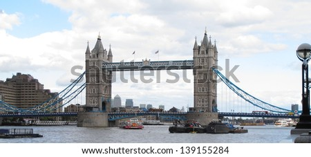 Tower Bridge London Uk - stock photo